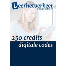 Digitale codes per mail 250 credits
